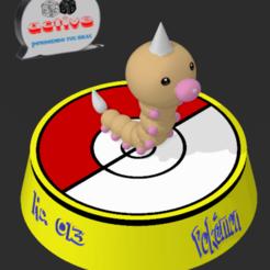 Descargar archivo 3D Pokemon Weedle, 3dactive