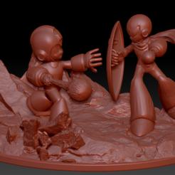 Télécharger fichier imprimante 3D Megaman contre Protoman, 3dactive