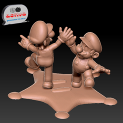 Download 3D print files Mario & Luigi, 3dactive