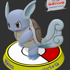 Descargar STL Pokemon Wartortle, 3dactive