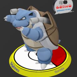 Descargar STL Pokemon Blastoise, 3dactive