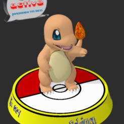 Download free 3D printing templates Pokemon Charmander, 3dactive