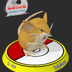 Descargar archivos STL Pokemon Raticate, 3dactive