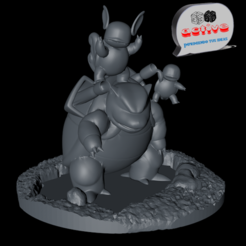 Descargar archivo 3D Pokemon Water Team, 3dactive
