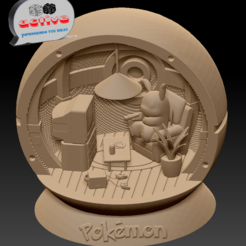 Download 3D print files Pikachu in Pokeball, 3dactive