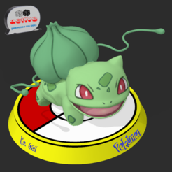 Bulbasaur 1.PNG Download free STL file Pokemon Bulbasaur • 3D print template, 3dactive