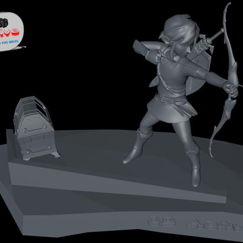 Descargar archivo 3D Legend of Zelda: Breath of the Wild.  Link Archer, 3dactive