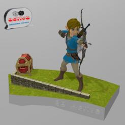 Download STL file Legend of Zelda: Breath of the Wild.  Link Archer, 3dactive