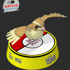 Download 3D printing designs Pokemon Pidgey, 3dactive