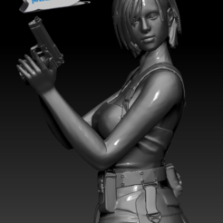 Jill Valentine 0.PNG Télécharger fichier STL Jill Valentine • Modèle pour imprimante 3D, 3dactive