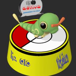 Descargar archivos STL Pokemon Caterpie, 3dactive
