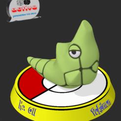 Descargar STL Pokemon Metapod, 3dactive