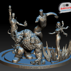Download 3D printer templates Fantastic Four, 3dactive