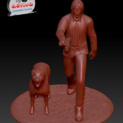 John Wick 1.PNG Télécharger fichier STL John Wick • Objet pour imprimante 3D, 3dactive