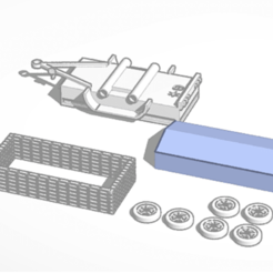 remorqueDE.png Download free STL file Double axle trailer • 3D printable design, Garage143