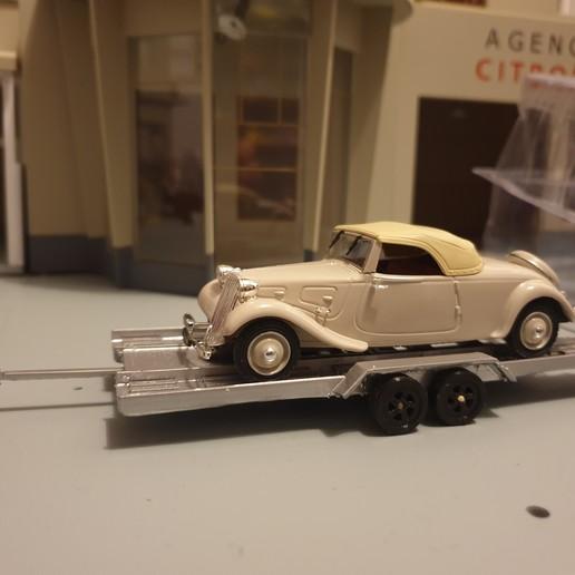 20200604_080127.jpg Download free STL file Car flatbed trailer • Object to 3D print, Garage143