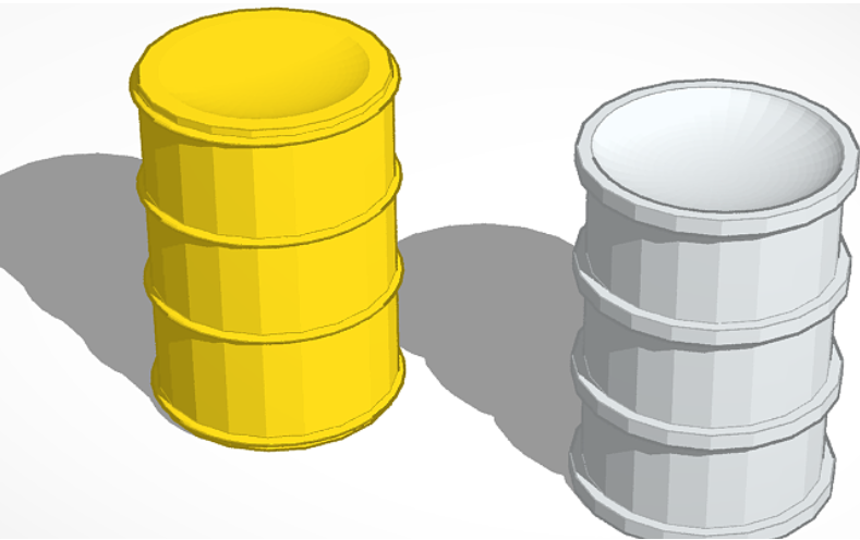 bidon.png Download free STL file Can of oil 1:43 • 3D printing object, Garage143