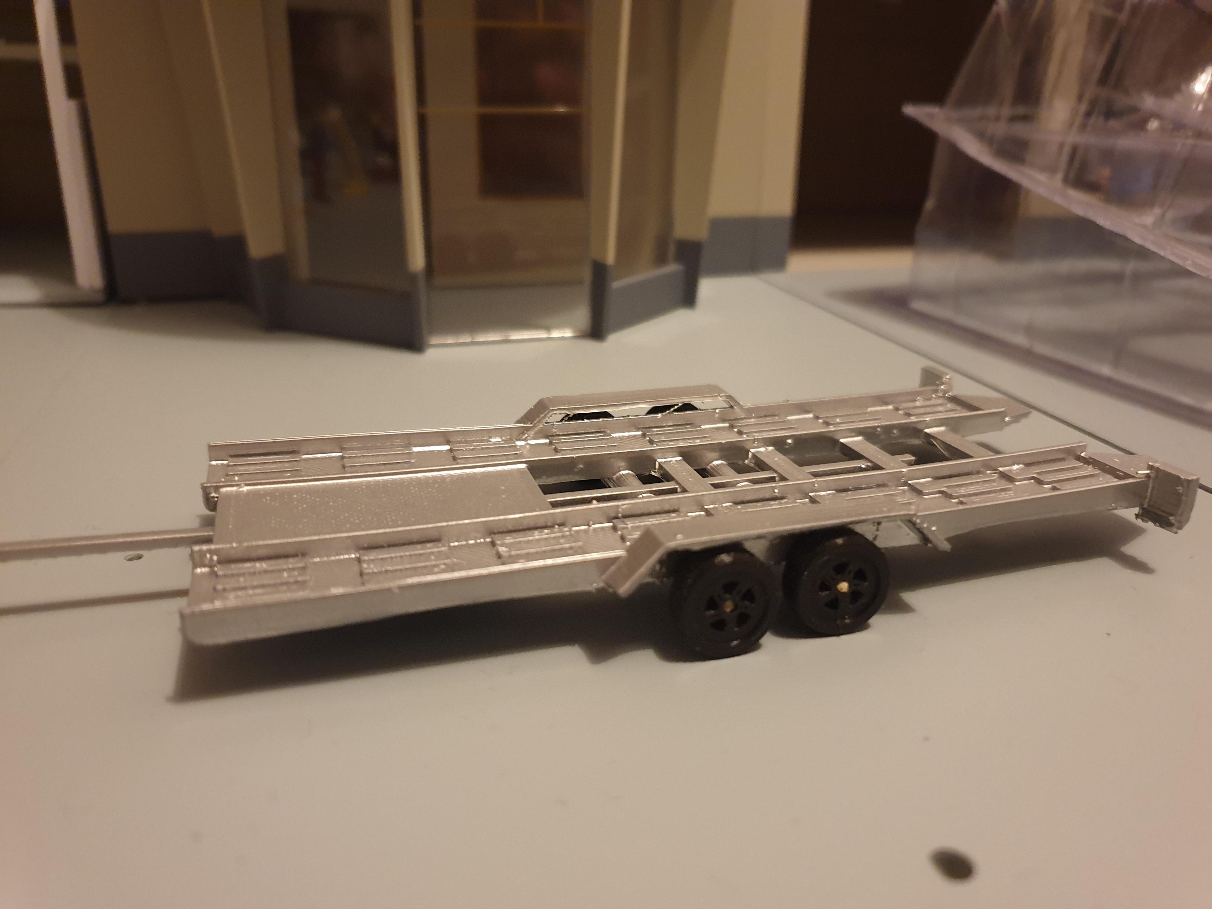 20200604_080138.jpg Download free STL file Car flatbed trailer • Object to 3D print, Garage143