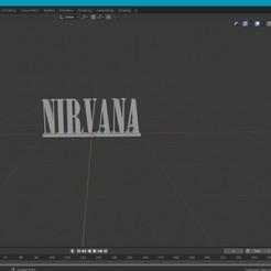 Télécharger fichier 3D gratuit Logo texte Nirvana, hralajakub