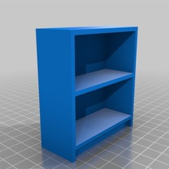 Download free 3D model 1/12 scale bookshelf, ManMommy