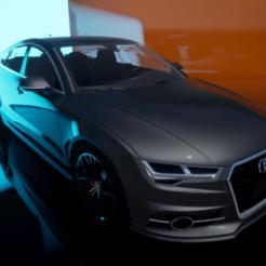 Audi A7.png Télécharger fichier OBJ Audi A7 • Plan à imprimer en 3D, chinoiis