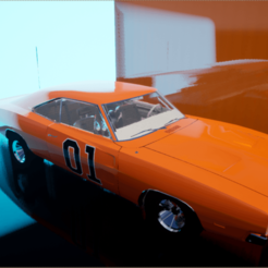 General Lee.png Download OBJ file General Lee Dodge Charger • Object to 3D print, chinoiis