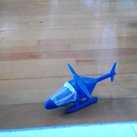 Free 3D printer designs helicopter, hugobeauchamp2