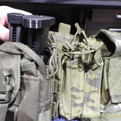 DSCN3093.JPG Télécharger fichier STL Porte-revues double pistolet Airsoft • Plan pour impression 3D, OzzieDesigns