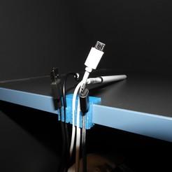 DSCN3029.JPG Download free STL file Desk Shelf Cable Holder • 3D printing model, OzzieDesigns
