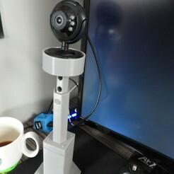 DSCN4024.JPG Download STL file Desk Camera Support • 3D print design, OzzieDesigns