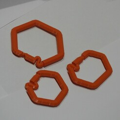 DSCN4042.JPG Download STL file Hexagonal karabiner Set • 3D printer design, OzzieDesigns