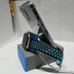 DSCN4031.JPG Télécharger fichier STL Chargeur de stockage de voyage Phone Watch • Modèle pour impression 3D, OzzieDesigns
