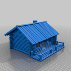 Download free 3D printing templates Hunting Log Cabin, procv
