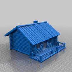 Télécharger objet 3D gratuit Cabane de chasse en bois rond, procv