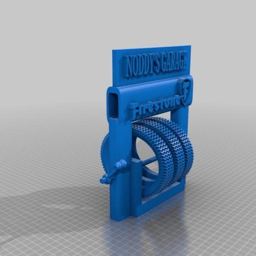 Télécharger fichier impression 3D gratuit Support pour pneus de station-service, procv