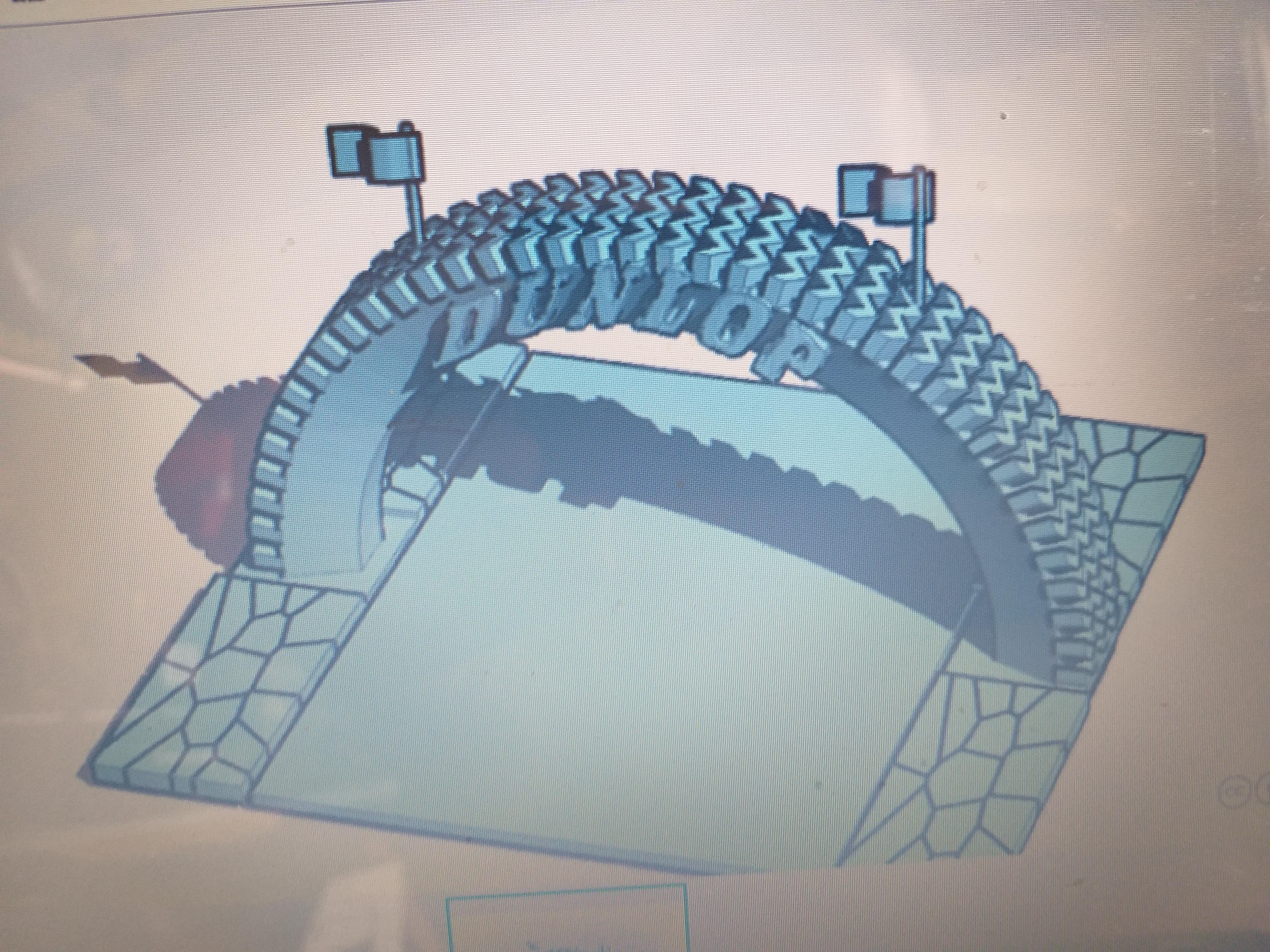 DUNLOP TYRE ARCH.jpg Télécharger fichier STL gratuit PUBLICITÉ DE COURSE VINTAGE • Modèle pour impression 3D, procv