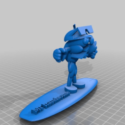 Télécharger fichier imprimante 3D gratuit Surfeur mec, procv