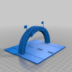 Download free 3D printing models Racing Track Tyre diorama, procv