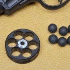 Télécharger plan imprimante 3D gatuit Revolver d'autodéfense Umarex T4E HDR 50, procv