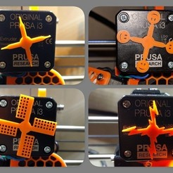 Download free 3D printer designs NEMA (extruder) motor rotation indicator (Prusa MK2(S)/MK2.5/MK3/MMU2), petclaud