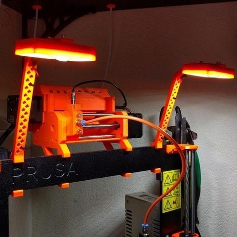 Télécharger fichier 3D gratuit Prusa MK2(S)/MK2.5/MK3 Support de cadre LED compatible MMU2, petclaud