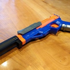 Free STL files Nerf sharpfire barrel / silencer, petclaud
