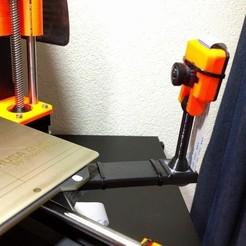 Free 3D printer files Prusa i3 MK3 Raspberry Pi Camera Bed Mount, petclaud
