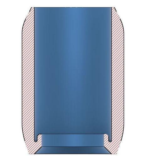 Section.JPG Télécharger fichier STL gratuit Grip confort Wowstick ET protection contre les arêtes vives • Modèle pour impression 3D, petclaud