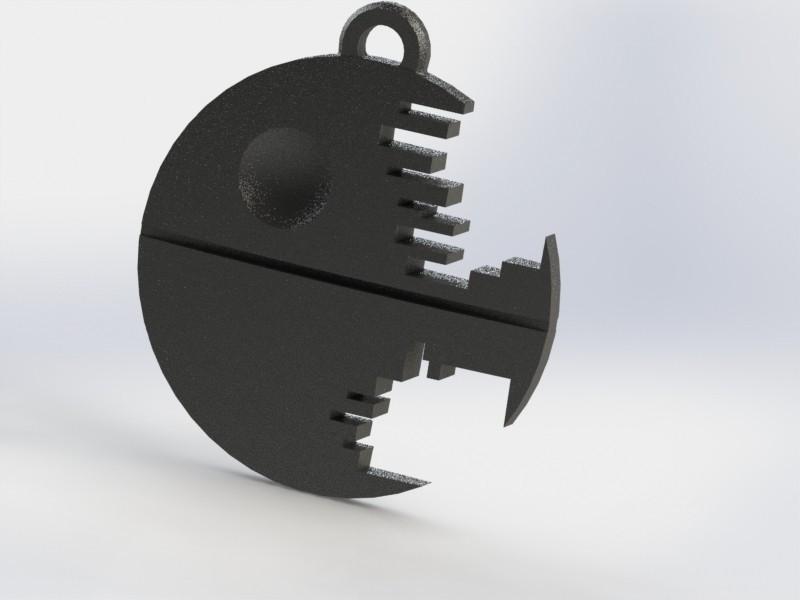 death star.JPG Télécharger fichier STL gratuit Porte-clés étoile de la mort • Design imprimable en 3D, jordiventura