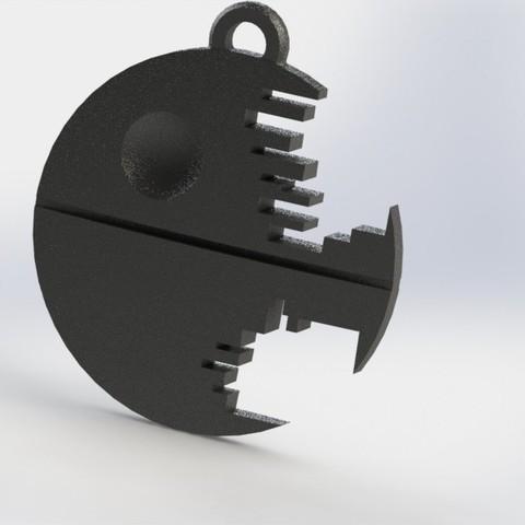 Descargar Modelos 3D para imprimir gratis Death star keychain, jordiventura