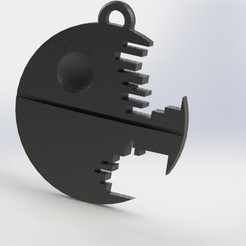 Download free 3D printer model Death star keychain, jordiventura