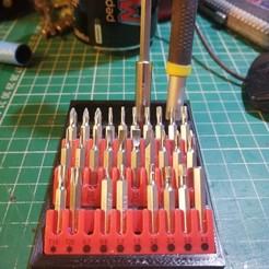 IMG_20200131_233234.jpg Download free STL file Precision screwdriver Bit Holder • Design to 3D print, simonlewis962