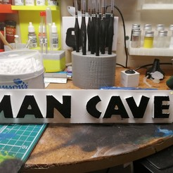 Download free 3D printing files Man Cave Sign, simonlewis962