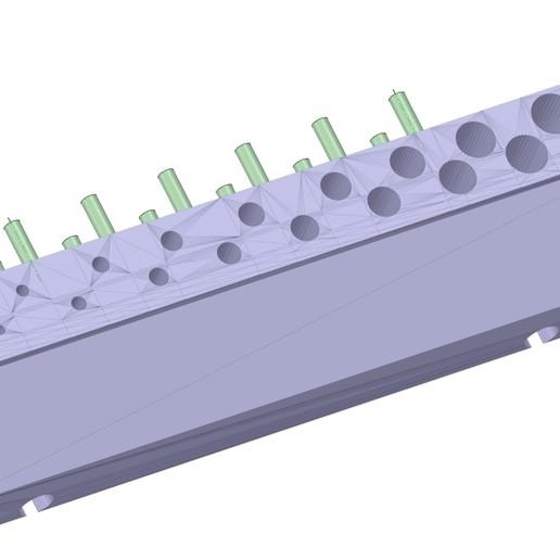 drill_holder_v1_19_mm_pegboard_version.jpg Download free STL file Pegboard Drill Bit holder 19 mm • 3D printer object, simonlewis962
